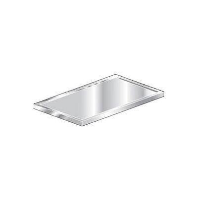 """Aero Manufacturing 3TCV-2472 16 Gauge Countertop 304 Stainless Steel - V-Edge 72""""W x 24""""D"""