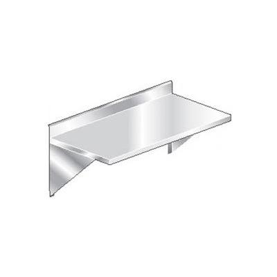 """Aero Manufacturing 3TWMB-2460 16 Gauge Wall Mount Table 304 Stainless Steel - 4"""" Backsplash 60 x 24"""