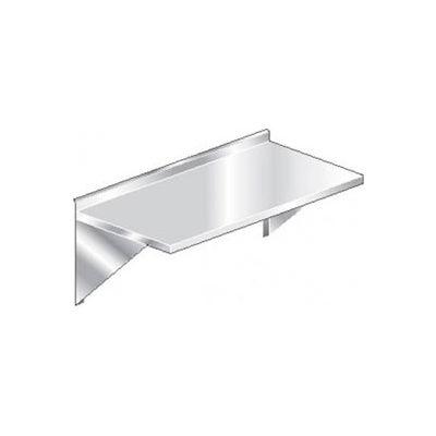 """Aero Manufacturing 3TWMS-2472 16 Ga Wall Mount Table 304 Stainless Steel - 2-1/4"""" Backsplash 72 x 24"""