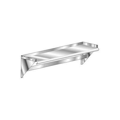 Aero Manufacturing 3WSP-1072 16 Gauge Deluxe Wall-Mounted Shelf 304 Stainless Steel - NSF 72 x 10