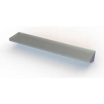 """Aero Manufacturing 4BW-1248 16 Gauge Wall Mount Shelf With One Inch Lip - 430 Stainless Steel - 48""""W"""