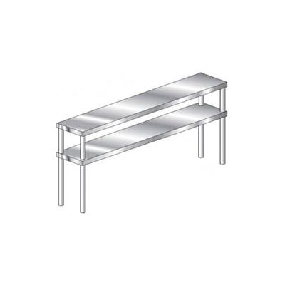 "Aero Manufacturing 4DO-1596 16 Gauge Economy Double Overshelf 430 Stainless Steel - NSF 96""W x 15""D"