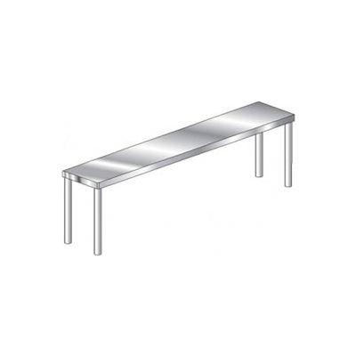 "Aero Manufacturing 4O-1036 Economy 16 Gauge Single Overshelf 430 Stainless Steel - NSF 36""W x 10""D"
