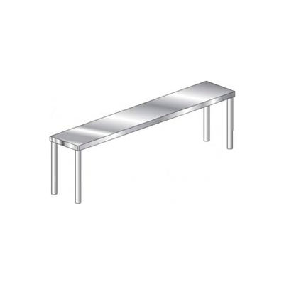 "Aero Manufacturing 4O-1896 Economy 16 Gauge Single Overshelf 430 Stainless Steel - NSF 96""W x 18""D"