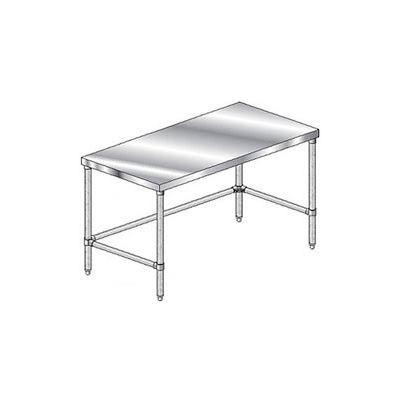 "Aero Manufacturing 4TGX-3648 16 Gauge Economy Workbench 430 Stainless Steel - Galv Legs 48""W x 36""D"