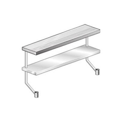 "Aero Manufacturing APS-824 18 Gauge Adj Plate Shelf for Equipment Stand - Stainless Steel 24""W x 8""D"