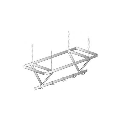 "Aero Manufacturing CPS-120 120""W x 24""D SS NSF Ceiling Mount Pot Rack"