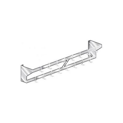 """Aero Manufacturing WPS-132 Wall-Mounted Pot Rack Stainless Steel - Double Bar NSF 132""""W x 12""""D"""