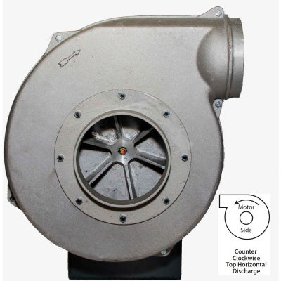 Americraft Aluminum Blower, HADP10-11/2-T-TE-CCWTH, 1-1/2 HP, 3 PH, TEFC, CCW, Top Horizontal
