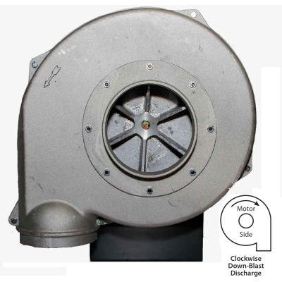 "Americraft Aluminum Blower, HADP12, 3 HP, 1 PH, TEFC, CW, 115/230V,Downblast, Wheel 11-1/2"" X 2-3/4"""
