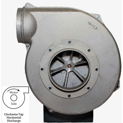 Americraft Aluminum Blower, HADP15-5-S-TE-CWTH, 5 HP, 1 PH, TEFC, CW, Top Horizontal