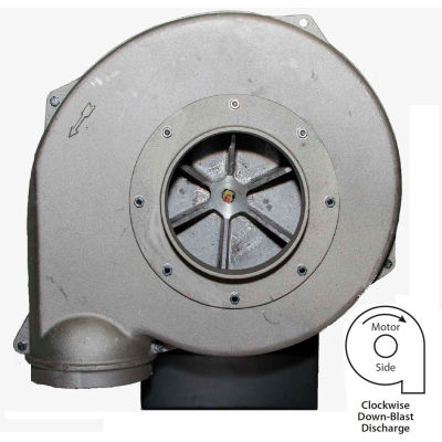 Americraft Aluminum Blower, HADP15-5-T-TE-CWDB, 5 HP, 3 PH, TEFC, CW, Downblast