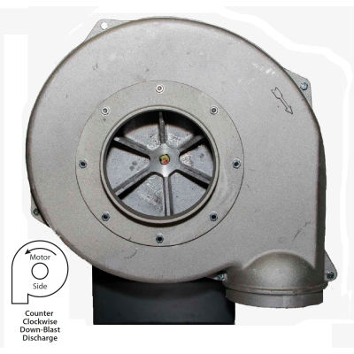 Americraft Hazardous Location Blower, HADP9, 1 HP, 1 PH, Explosion Proof, CCW, Downblast