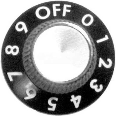 Knob 1-1/8 D, Off-0-9 For Lincoln, LIN12919SP