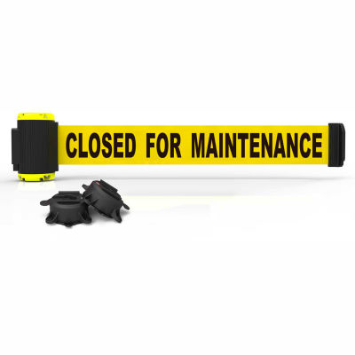 """Banner Stakes MH7006 - 7' Magnetic Wall Mount Barrier, """"Closed For Maintenance"""" Banner"""