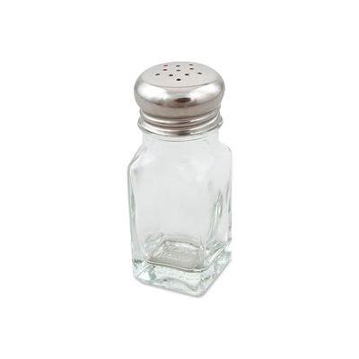 Alegacy 154SP - Square Salt Shaker, Glass, 2 Oz.