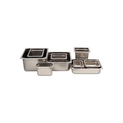 """Alegacy 55126 - Steam Table Pan, 1/2 Size, 11 Qt., 25 Ga. Stainless Steel, 10-3/8""""W x 12-3/4""""D x 6""""H - Pkg Qty 6"""