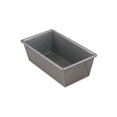 "Alegacy B4106 - Aluminized Steel Glazed Bread Pan, 8"" x 4"" - Pkg Qty 12"