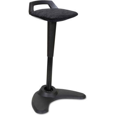 Alera® Sit-Stand Perch Stool - Black with Black Base - AdaptivErgo Series