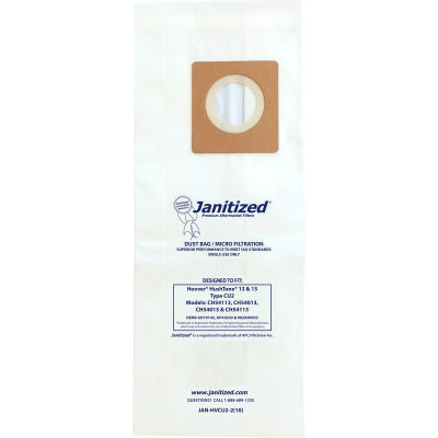 Hoover® Allergen Vacuum Bags for HushTone CH54113, CH54115, CH54013 & CH54015 - 100 Bags/Case