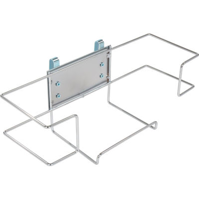 "Nexel® Single Glove Box Holder, 11-5/8""L x 3-15/16""W x 4-1/8""H, Chrome"