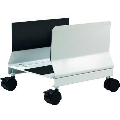 Aidata CS001E Heavy Duty Mobile CPU Stand, Platinum