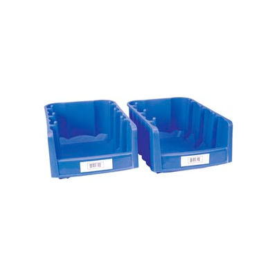 """Label Holder, Bin, 2"""" x 4"""", Clear, Pack of 25"""