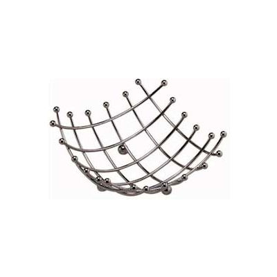 "American Metalcraft BAS1 - Space/Time Continuum Basket, 8"" Sq. x 2-3/4""H, Checker Pattern"