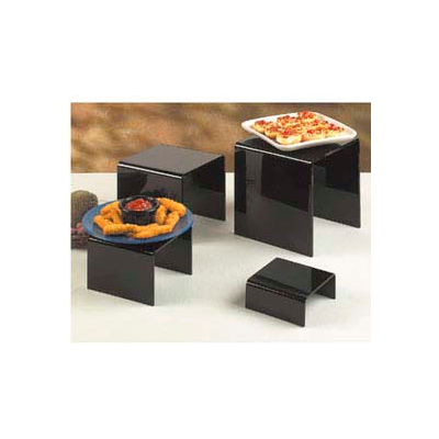 American Metalcraft BRS2 - Riser Set, Four Piece, Black Acrylic