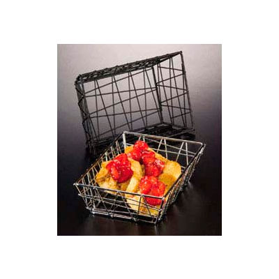 American Metalcraft BZZ59C - Zorro Basket, 9 x 6 x 2-1/2, Rectangle, Chrome