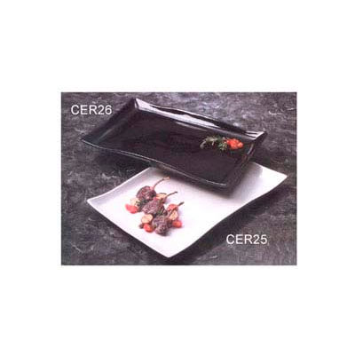 "American Metalcraft CER25 - Platter, 21"" x 13-1/2"", Rectangular, Wavy, Ceramic, White"