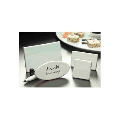 "American Metalcraft CMP425 - Card Sign, 3-3/4""W x 2-1/2""H, Rectangle, Ceramic"
