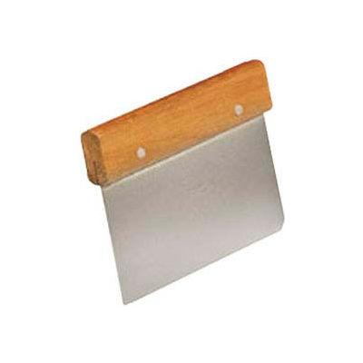 "American Metalcraft DS6704 - Dough Cutter/Scraper, 6 x 4-1/2"", Wooden Handle"