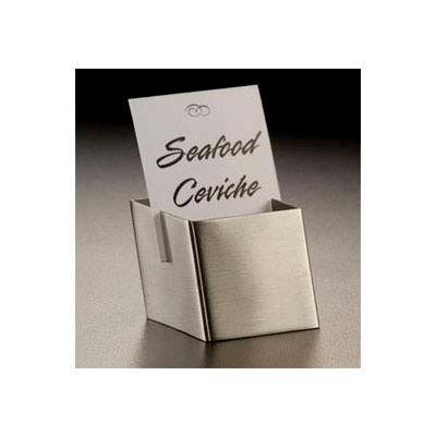 American Metalcraft DXCH2 - Card Holder, 1-1/2 x 1-3/4 x 1-1/8, Box Shape, Slim Slit For Card Fit