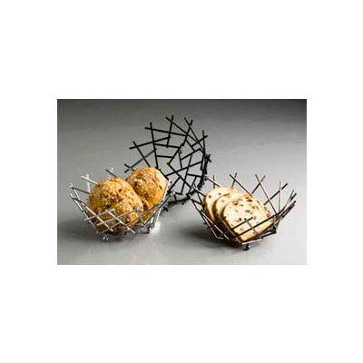 "American Metalcraft FRU11 - Thatch Basket, 8"" Dia. x 3-5/8""H"
