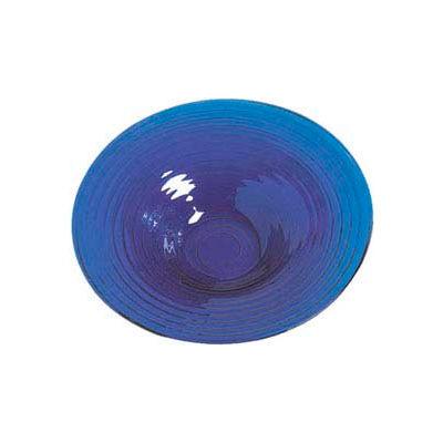 "American Metalcraft GBB20 - Bowl, 18-1/2"" Dia. x 3-1/2""D, Blue Glass"