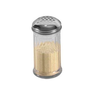 """American Metalcraft GLA319 - Cheese Shaker, 12 Oz., W/ 1/4"""" Holes, Glass W/ Stainless Steel Top"""