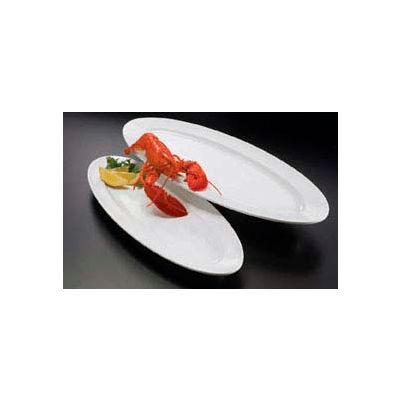 "American Metalcraft MEL49 - Endurance Boat Platter/Tray, 24"" L, White"