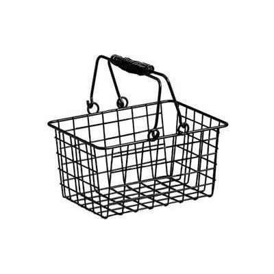 American Metalcraft RBHB975 - Basket W/Double Handle, Rectangular, 9 x 7 x 5, Black Wire
