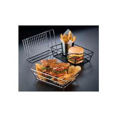 American Metalcraft RMB59C - Basket, 9 x 6 x 2-1/2, Rectangle, Grid Bottom, Chrome
