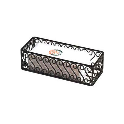"American Metalcraft SFBB5312 - Basket, 12"" x 5"", Black Scroll Design"