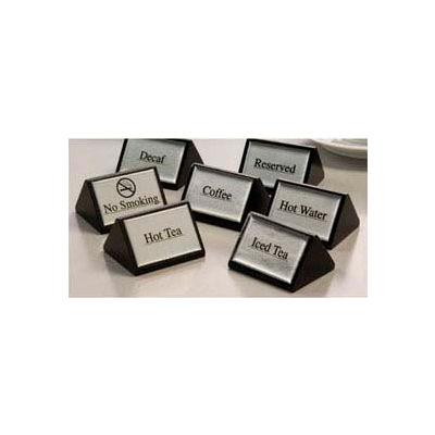 American Metalcraft SIGNIT2 - Iced Tea Sign, Triangular, 3 x 1-3/4, Black W/Silver Labels