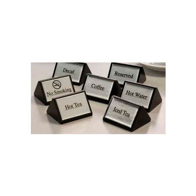 American Metalcraft SIGNW5 - Hot Water Sign, Triangular, 3 x 1-3/4, Black W/Silver Labels