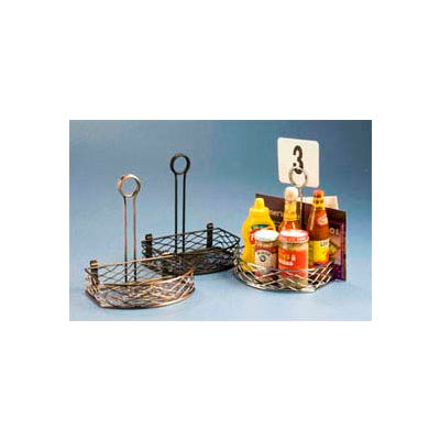 American Metalcraft SRBNC2 - Birdnest Condiment Rack, 5-5/8 x 8 x 9-1/8, Semi Round Wire, Chrome