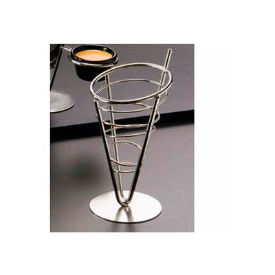 """American Metalcraft SS59 - Ironworks Basket, 1-Cone Basket, 5"""" Dia., x 9""""H, Conical"""