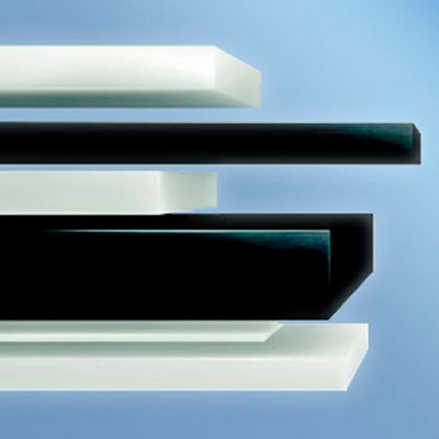 AIN Plastics UHMW Rectangular Bar stock, 48 in. L 4 in. W 3 in. Thick, Black
