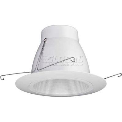 "Lithonia 6"" Full Reflector Trim w/Premium Baffle Wide Flng Torsion Springs Wht - Pkg Qty 12"