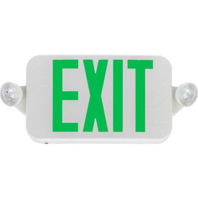 Lithonia Lighting® ECC G M6 LED Green Emergency Combo Exit / Unit with LED Heads