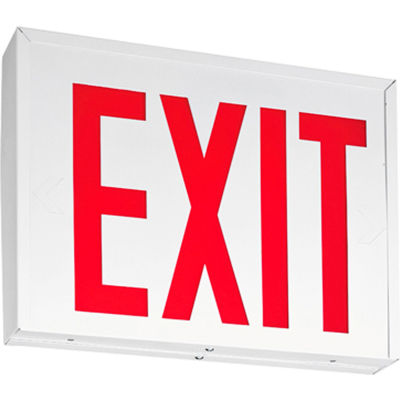 Lithonia Lighting LXNY W 3 R M4, LED Steel Exit Sign, 2W, AC Only, NYC Approved, White