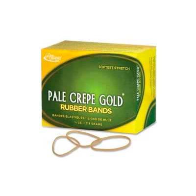 "Alliance® Pale Crepe Gold® Rubber Bands, Size # 16, 2-1/2""x 1/16"", Natural, 1/4 lb. Box"